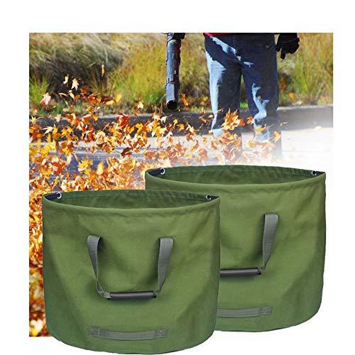 LJIANW GardenMate, Verde Impermeable Tarea Pesada Sacos De Basura Grandes con Asas Prueba Lágrima for Hoja Bolsas De Hierba Plegable Reutilizable (Color : 2PACK, Size : 18X22inch)