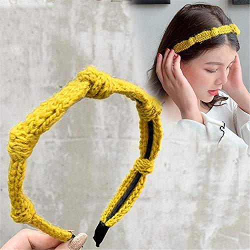 aimaoer Gestricktes Wollstirnband in der mittleren erwachsenen Haarnadel weiblicher Kopfschmuck-Ingwer
