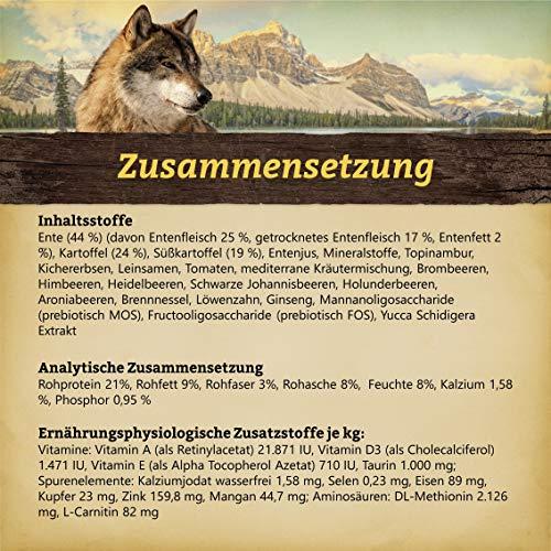 WOLFSBLUT Trockenfutter WILD DUCK Ente + Kartoffel Adult für Hunde 15,0 kg - 3