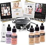 TRU Airbrush Makeup Kit Light/Medium Mineral Foundation 8 Piece Cosmetic Kit