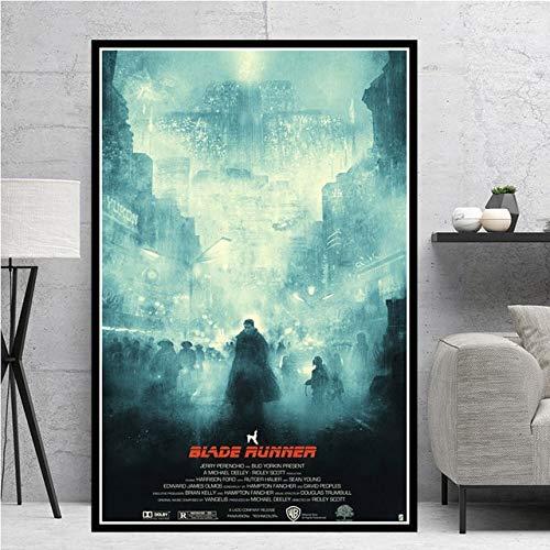 Fymm丶shop Poster Druckt Blade Runner 2049 Film Leinwand Ölgemälde Wandkunst Bilder Wohnzimmer Wohnkultur 40X50Cm -Y3639