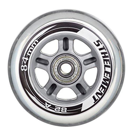 5th Element 8-Pack Performance 84mm Inline Skate Outdoor Replacement Wheels with ABEC-7 Bearings - 84mm