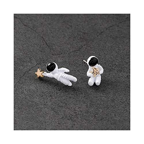 AdorabFruit Présent Pendentif Collar del Collar del Collar de Collar Colgante de Tela Negro Astronauta de la Vendimia for Las Mujeres Regalos (Metal Color : Style 1)