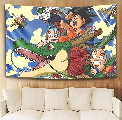 WSPZZWY Tapestries Funny Anime Dragon Ball Goku Multifunctional Decorative Wall Mounted Living Room Bedroom Fashion Background Cloth Tablecloth Sofa Cushion Kids Gift D 80 * 120Cm