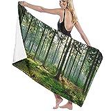Toallas Un Bosque Vibrante en el Sol Toallas para Nadar Cómoda Toalla de baño Mantas de Playa sin Arena Secado rápido Toalla de Ducha 130X80 CM