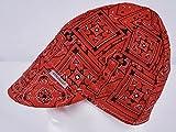 Comeaux Caps Reversible Welding Cap Red Bandana Size 7 1/2