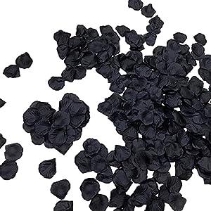3000 pieces black rose petals fake artificial flower petals for valentine day,wedding,party decoration,romantic night silk flower arrangements