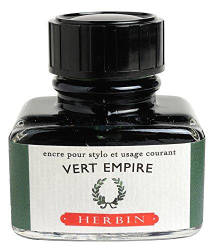 J.Herbin 13039T Tinte für Füller, 30 ml, lorbeergrün
