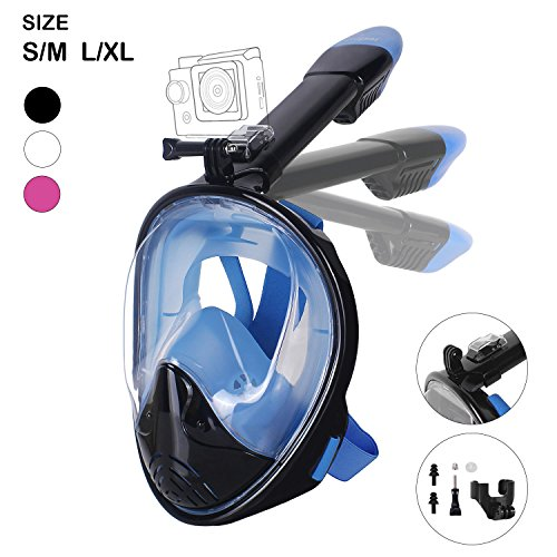 Unigear 180° Full Face Snorkel Mask -Panoramic View with Detachable...