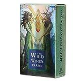 Carte da gioco di divinazione, caratteristiche olografiche uniche Mazzo di carte da divinazione, giocattolo di carte di divinazione, festa resistente all'usura per(wild wood tarot)