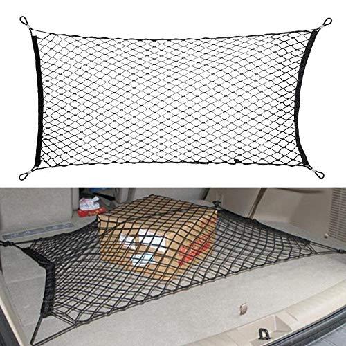 Tonyzhou Co.,ltd 120x60cm Car Styling Boot String Mesh Bag Elastic Nylon Car Rear Cargo Trunk Storage Organizer Luggage Net Holder Auto Accessory