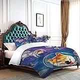 Dragon VINES - Juego de funda de edredón para cama de matrimonio, diseño de huellas de patas, diseño de rombo en forma de diamante, diseño geométrico, apartamento dormitorio multicolor, poliéster, Patrón 05, Twin xl (W68'xL90')