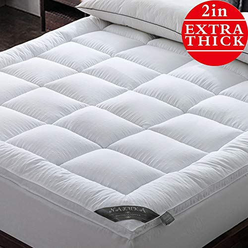 Naluka Mattress Topper Twin Pillowtop Bed Topper 3D Bubble Cooling Mattress Pad with Deep Pocket - Extra Thick 2'