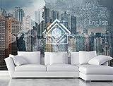 Tapete Modern 3D Fototapete selbst gestalten Wandbild Stadtthema Tapeten @ 430 * 300cm