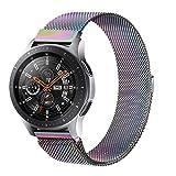 Senka 22mm Metal Correa Compatible con Samsung Galaxy Watch 3 45mm/Galaxy Watch 46mm/Gear S3,Pulseras de Repuesto de Inoxidable para Huawei Watch GT 2 46mm(22mm,Vistoso)
