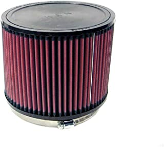 K&N Universal Clamp-On Engine Air Filter: Washable and Reusable: Round Tapered; 6 in (152 mm) Flange ID; 6 in (152 mm) Height; 7.5 in (191 mm) Base; 5 in (127 mm) Top , RU-3100