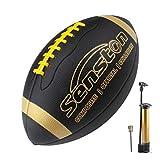 Senston Balon Futbol Americano Talla 9 Unisex-Juvenil PU Cuero Compuesto Duradero Pelota de fútbol Americano de Tacto Suave