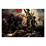 Liberty Leading The People Eugene Delacroix Puzzles for Adults, 1000 Piece Kids Jigsaw Puzzles Game Toys Gift for Children Boys and Girls, 20 x 30