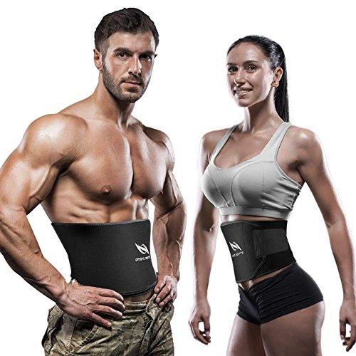 OMORC Faja Reductora Adelgazante Unisex,Faja Neopreno con Velcro para Reduciendo Cintura y Abdomen, Faja Lumbar Deportiva para Deporte, Fitness y Proteger la Cintura-L