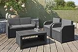 Gartenlounge Set Modena graphit cool grey inkl Sitz- und Rückenkissen - 4
