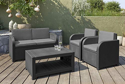 Allibert Modena Lounge Set, graphit/cool grey (poly cotton Kissen) - 2