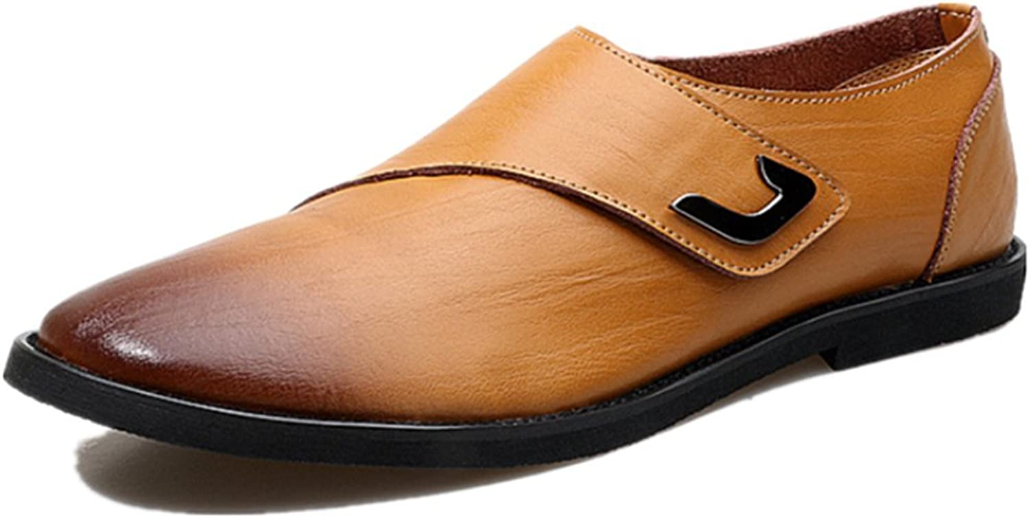Punk family Men's Casual Business England Leather Breathable Leather shoes