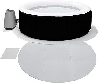 Protector de suelo redondo entrelazado, 9 mm, extra grueso, juego de 10 almohadillas protectoras para spa y bomba