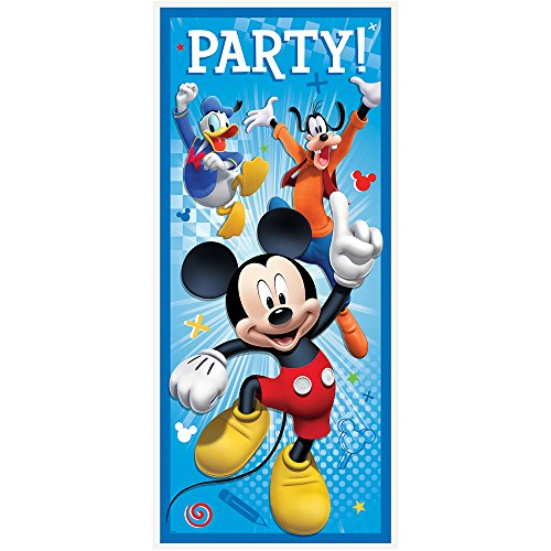 Unique Plastic Mickey Mouse Door Poster (1 Count), 60