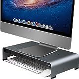 Vaydeer Soporte Monitor Mesa de Aluminio para Monitor con 4 Puertos USB Admite...