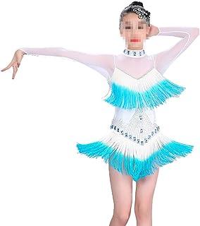 Yocobo Abito da Ballo Vestito da Balletto Latino per Bambina Asimmetrico con Paillettes Rumba Salsa per Balli da Ballo Asimmetrico Costume da Ballo per Danza Classica Body Ginnastica Abiti Danza