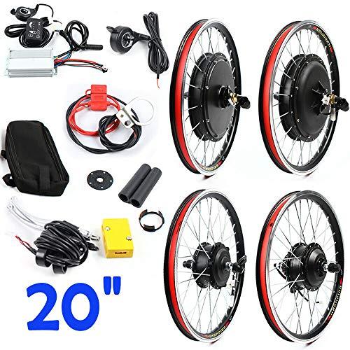 Sujrtuj - Kit di conversione per bicicletta elettrica da 20', 48 V, 1000 W