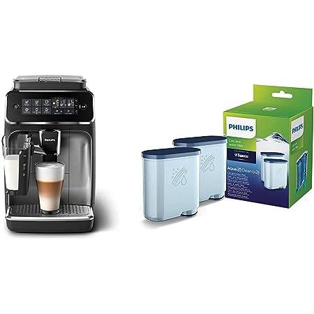 Philips EP3246/70 Machine à Café Automatique Expresso Séries 3200 LatteGo Argent & Philips Filtre à Eau et à calcaire CA6903/22 Lot de 2