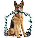 Juguete de cuerda gigante XXG para perros extragrandes, 107 cm de largo y 6 nudos, en...