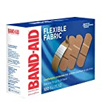 Johnson & Johnson Band-Aid Brand Flexible Fabric Adhesive Bandages for Wound Care and First Aid, All One Size, 100 Count… 19 100-count Band-Aid Brand Flexible Fabric Adhesive Bandages for first aid and wound protection of minor wounds, cuts, scrapes and burns Made with Memory-Weave fabric for comfort and flexibility, these bandages stretch, bend, and flex with your skin as you move, and include a Quilt-Aid comfort pad designed to cushion painful wounds which may help prevent reinjury These Band-Aid Brand Flexible Fabric adhesive bandages stay on for up to 24 hours and feature a unique Hurt-Free Pad that won't stick to the wound as they wick away blood and fluids, allowing for gentle removal