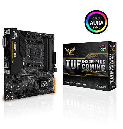 Photo of ASUS TUF Gaming B450M-PLUS Micro ATX Motherboard, AMD Socket AM4, AM4, Ryzen 3000 Ready, PCIe 3.0, M.2, DDR4, LAN, HDMI, DVI-D, USB 3.1, Aura Sync RGB