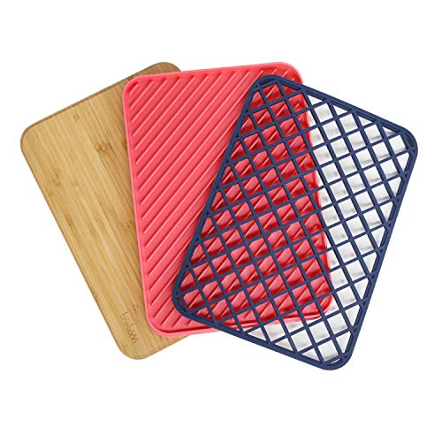 Trebonn - Trilogy Chop Drain & Rest, juego de cocina con tabla...