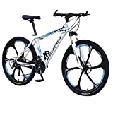Gofodn Adult Mountain Bike, 26 inch 21-Speed Bicycle Full Suspension MTB Gears Dual Disc...