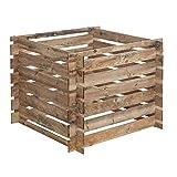 Siena Garden Komposter Mezzito 480 L, Maße: 100 x 100 x 72 cm, beige