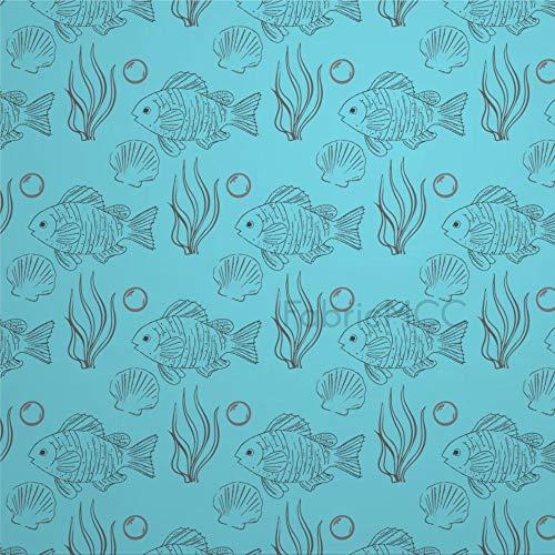 daoyiqi Juego de adhesivos decorativos para azulejos, diseño de botánica turquesa, 10,4 x 10,4 cm, vinilo adhesivo para suelo de azulejos de vinilo resistente al agua, 12 unidades