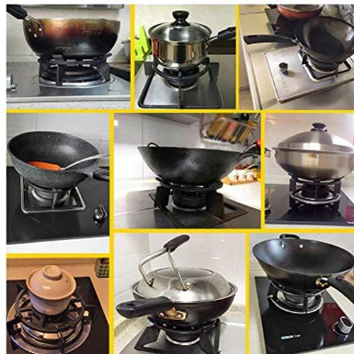 Amoyer Kitchecn Wok Stands Cast Iron Wok Estante Bandeja De Soporte para Los Suministros De Gas Placas Cocinas