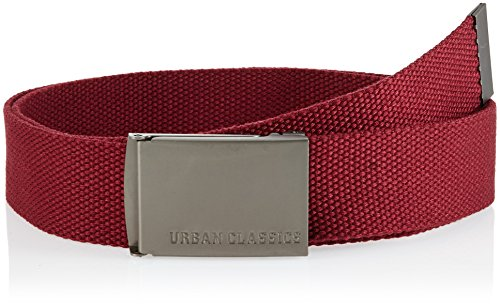 Urban Classics Unisex Canvas Belt Gürtel, Burgundy, one size