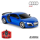 CMJ RC Cars  Audi R8 GT Telecomando con licenza ufficiale Auto Scala 1:18 Luci di lavoro 2.4Ghz blu