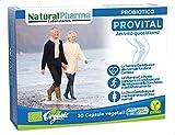 Natural Pharma Labs. Probiotici Biologici ProVital. Maturità Attiva e Salutare. Vitamina C + B1 + B5 + Zinco. Smart BioCaps®. Probiotici Naturali. Senza Glutine, Senza Lattosio, Vegani.