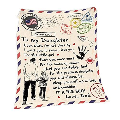 Manta de franela, diseño creativo con letras impresas, suave y cómoda para aire acondicionado, regalo personalizado