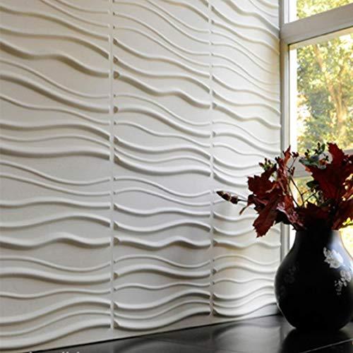 YXsueh 3D 壁紙 DIY 立体壁紙 レンガ 防音シート ウォールステッカー 軽量レンガシール 壁紙シール 防水 断熱 DIYクッション シール シート 壁用 はがせる タイルシール 北欧 自己粘着 60*60cm 5/10/20枚セット (ホワイト