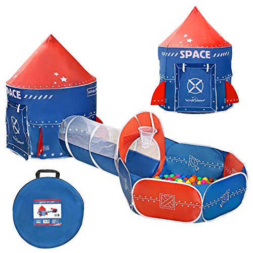 EagleStone 3 in 1 Kids Play Tent, Play Tunnel, Ball Pit with...