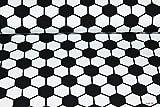 Jerseystoff Fußball schwarz-weiß | 1,50 Meter breit |
