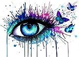FBDBGRF Pintar por Número Ojos De Mariposa para Adultos Y Niños DIY Kit De Regalo De Pintura Al Óleo con Juego De Pintura Digital para Decoración del Hogar Lienzos para Pintar