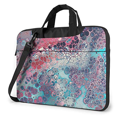 Laptop Sleeve Bag Modern Art Cellular Colorful Tablet Briefcase Ultraportable Protective Canvas for 15.6 inch MacBook Pro/MacBook Air/Notebook Computer