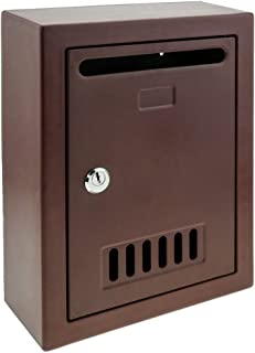 Mailbox for letters and post Maroon 205x80x273mm